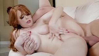 Big cock anal sex for curvy redhead Penny Pax