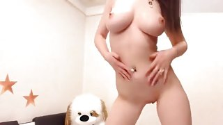 Naked beauty SexyElenPUSSY dancing on the bed