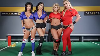 Stunning orgy with Brooklyn Chase, Phoenix Marie and Veronica Avluv