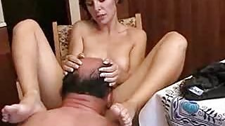 Eating Pussy at the Kitchen Table