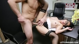 Asian Job Interview Jizz