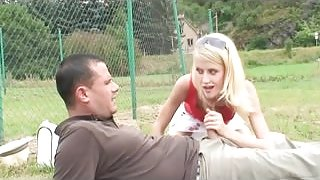 Sucking and fucking in public park