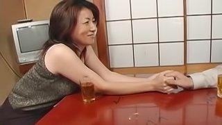 Enchanting Japanese cougar is into younger studs