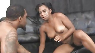 Black Hood Rat Slapped Around And Very Rough Blowjob
