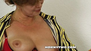 Hairy chubby stepmom taking cock in mouth too hot tehn get