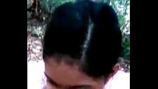 Young Babe Blowjob 2 BF in Jungle wid Tamil Audio 4208