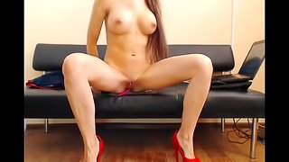 Magnificent Perfect Body Teen Fucking Self On Cam