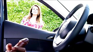 Beauty Can't Stop Watching Black Man Stroking In Car