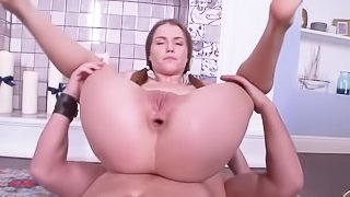 Young girl is sucking and riding cock