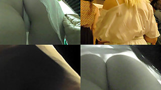 Upskirt footage of bubble ass of girl in g-string