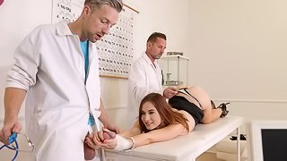 Angelic young chick Mina fucked two times oni the table