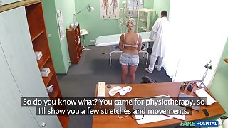 Katy in Doctor helps petite euro chicks back ache with a dose of hot sex - FakeHospital