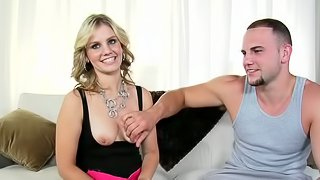 Hot Babe Gets Drilled During an Audition that Becomes a Threesome