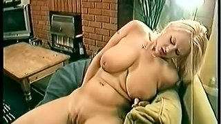 Bosomy blond chick gets her pussy fingered and fucked deep