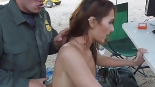 Cop handcuff fuck Brunette gets pulled over