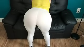 Moms Hot Friend Rips her pants JOI, BJ, and Fuck Full Cut 4