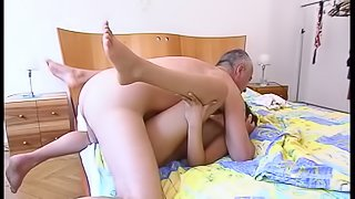 Guy with a hairy dick drills the depths of the sexiest chick