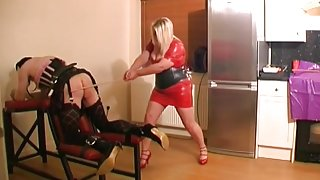 Sissy Caned Master and Mistress
