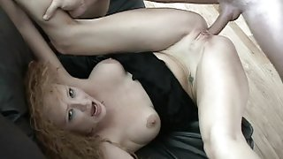 Audrey Hollander screams and moans...
