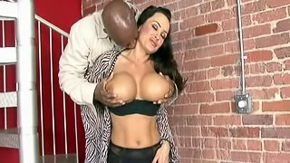 Lisa Ann is a busty brunette who loves being pounded hard