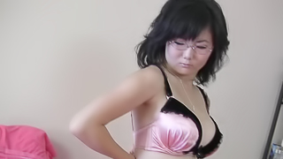 Homemade video by Asian girl from Russia that loves masturbation
