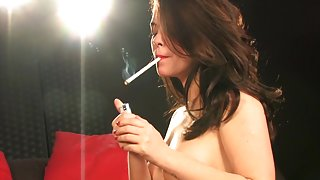 Ava Dalush all white smoking sex