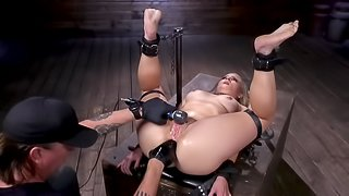Lisey Sweet becomes a submissive girl and master masturbates anus