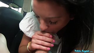 Monika in Pretty Babe in Shorts Fucked in a Car - PublicAgent