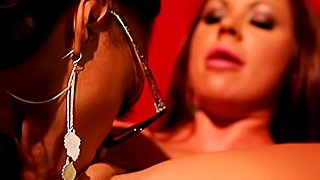 Lesbian orgy with toy play