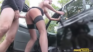 Hot Posh Lady Seduces Driver