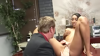 Fragile body of Latina lassie makes her rich boss horny
