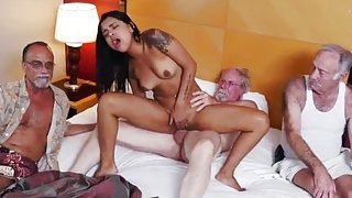 Old german couple threesome Staycation with