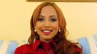 Latin girl fucks and smiles and it looks funny and tempting