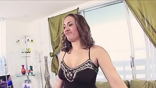 Babe In Tattoo Pussy Massages Dick On The Couch After Blowjob