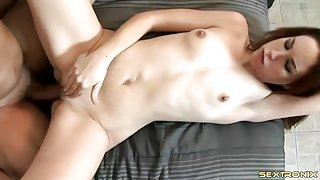 Skinny tramp fucked by a thick dick