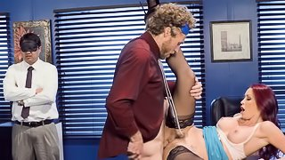 Everybody is blindfolded instead of hot MILF and nice male