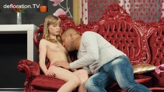 Irina gets licked and carressed by Thomas Stone