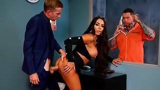 Excited MILF with huge boobs Christina May screwed by a lusty lawyer