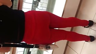 Sexy mex ass and tits in red
