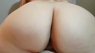 THICK BRUNETTE WIFE WITH GIANT ASS RIDES REVERSE COWGIRL UNTIL HOT CREAMPIE