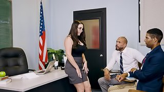 Gorgeous Angela White and the very first black cock of her career