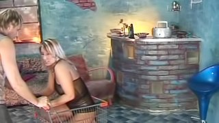 Pissing on her pussy after he wrecks hit viciously
