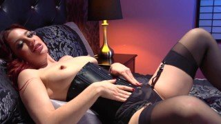 Jessica Ryan Black Stockings and Leather