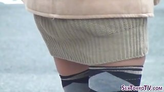 Naughty asians show panty