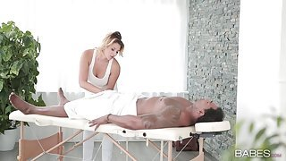 Interracial fucking for a blonde babe with a nice cumshot