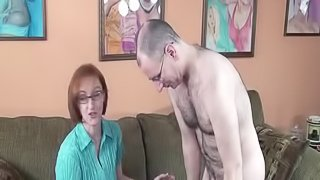 An amateur housewife opens up and sucks two guys at the the same time