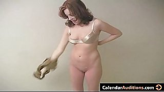 Cute Amateur Redhead With Cute Tits At Casting