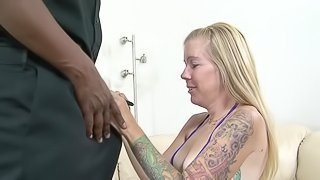 Tabitha James is fucked by a black monster cock