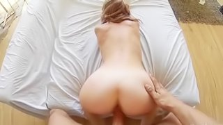 Lovely blonde gets fucked with passion