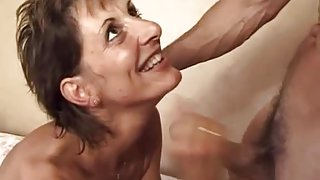 Hairy French MILF in her naughty forties getting Dp.d